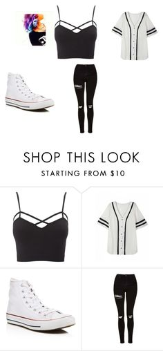 """regular day"" by kristy-naely on Polyvore featuring Charlotte Russe, Converse and Topshop"