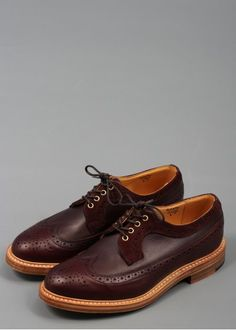 This stunning Trickers for Triads Multi-Tone Golosh Longwing Brogue Shoe is now available to buy exclusively at Triads. Brogue Shoe, Brogues, Smooth Leather, Leather And Lace, Goodyear Welt, Oxblood, Cobbler, Gentleman, Oxford Shoes
