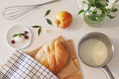 Готовим вместе: яблочный штрудель Cantaloupe, Pudding, Fruit, Ethnic Recipes, Desserts, Food, Tailgate Desserts, Deserts, Custard Pudding