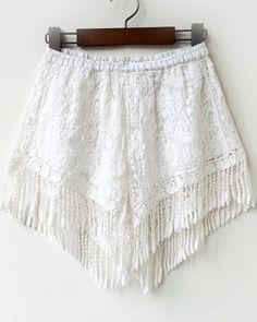 Cute fringed shorts.