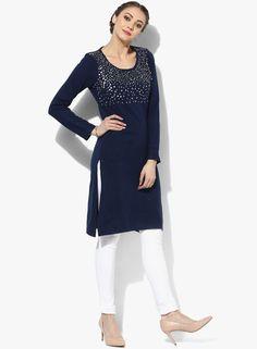 Price: Rs 576.  #FashionItemsEveryGirlMustHave #MustHave #jabong # #Fashion #kurta #sangria #winterwear   #casual #brands #work  #printed #navyblue  #acrylic #ethnic #trendy #blog #blogger #bloglovin #feminine #happy #happiness #love #lifestyle #fashiongoals #fashiongoal #fashionable #fashionlove #fashionist #fashionblogger #fashionblog #lookdiva #beautiful #india #insta #blackandwhite #BlackAndWhite943