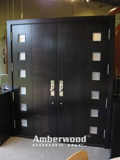 Modern Double Front Doors this is a gorgeous mahogany double door with interlocking circles