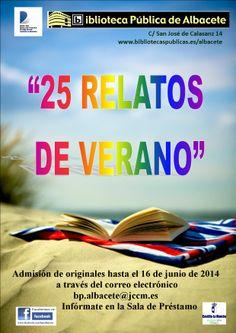 """Certamen """"25 relatos de verano"""" 2014  #actividadesbiblioteca"""