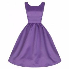 LINDY BOP 'Iris' Lilac Purple Prom Party / Cocktail Vintage Style Dress