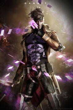 Gambit x men Dc Comics, Anime Comics, Comic Book Characters, Marvel Characters, Comic Character, Comic Art, Comic Books Art, Fantasy Anime, Final Fantasy