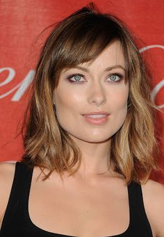 brown shoulder length hair with fringe - Google Search