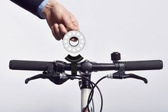 Paul Cocksedge's Double O bike lights slot securely around a D-lock