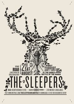 nowinpocketsize:    The Sleepers gig poster. #WOWmusic