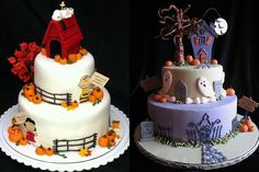 Wonderful Fall food ideas pics | wonderful fall cake and a Halloween themed purple and white cake! Description from pinterest.com. I searched for this on bing.com/images