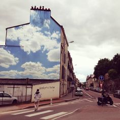 Illusion: This is a 2013 street art project by Benjamin Lozninger, a French graphic designer currently living in New York City. http://illusion.scene360.com/art/46634/clouds/