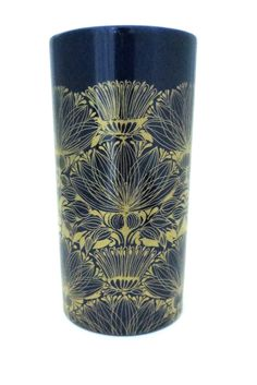 Bjørn Wiinblad for Rosenthal - Studio Line cobalt blue and gold porcelain vase