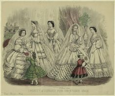 Godey's Ladies Book Fashion Plate, December 1862  Civil War Era Fashion Plate