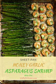 Sheet Pan Honey Garlic Shrimp Asparagus