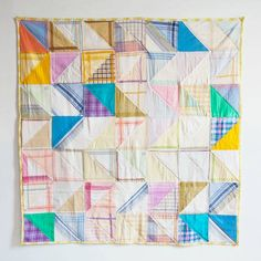 Sorbet Hankey Blanket from Made by Mosey. Patchwork Hankie Quilt.