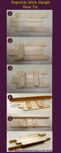 DIY sleigh ornament place cards made from popsicle sticks