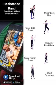 Arm Workout With Bands, Band Workouts, Workout Exercises, Body Exercises, Forearm Workout, Back Workout Routine, Kettlebell Workout Video, Personal Training Courses, Upper Back Exercises
