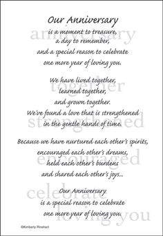 Short words for wedding anniversary
