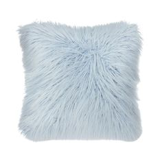Bring dimension and texture to your space with the Mongolian Faux Fur pillow. This fluffy pillow creates chic yet cozy ambiance. Mongolian Faux Fur is on trend and will instantly add a glamorous touch to your room. Fluffy Cushions, Blue Cushions, Baby Blue Bedrooms, Light Blue Throw Pillows, Blue Decorative Pillows, Home Design, Light Blue Rooms, Blue Room Decor, Cute Pillows