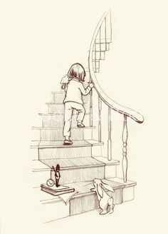 """Up the Stairs We Go"" by Belle & Boo.  $55.  I would be pretty hard-pressed to find a print from Belle & Boo that I don't love."