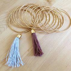 Glamorous DIY Tassel Bracelets