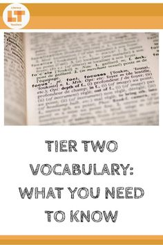 Teachers know the importance of vocabulary instruction, but do you know what words to teach and how to teach them? Keep reading to learn what Tier Two vocabulary is, how to choose words, and how to teach them. Vocabulary Instruction, Differentiated Instruction, Vocabulary Words, Vocabulary Ideas, Physics Classroom, Classroom Tools, Classroom Displays, Classroom Ideas, Word Study