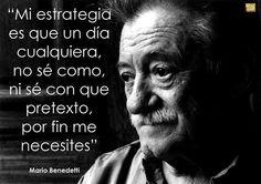 Mi estrategia.... Mario Benedetti