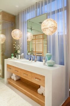 Bathroom - Purely contemporary with hits of glam - stunning.