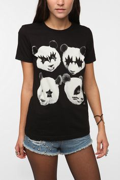 Kiss Pandas Tee - this is amazing and will be in my closet  #UrbanOutfitters
