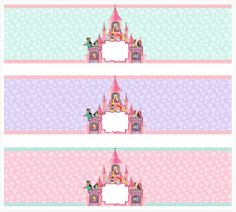 Disney Princess Party, Princess Birthday, Disney Water Bottle, Custom Water Bottle Labels, Decoupage, Crafts With Pictures, Happy 1st Birthdays, Party Printables, Free Printables
