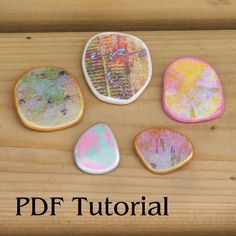 Paper Pebble Tutorial PDF How to make pendant by GillianMcMurray