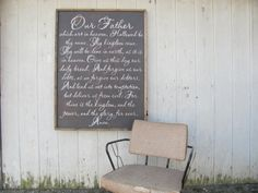 The Lords Prayer hand painted sign wall decor by ourhousetoyours