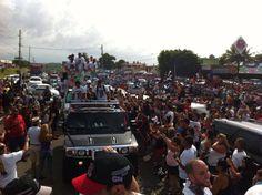 Caravana de celebracion de Campeonato Julio 30,2013