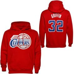 Majestic Blake Griffin Los Angeles Clippers Name & Number Pullover Hoodie - Red