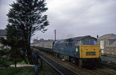 APR 74 Western Invader at Roskear Junction, Camb… Electric Locomotive, Diesel Locomotive, Train Pictures, British Rail, Wwii, Trains, Westerns, Around The Worlds, London