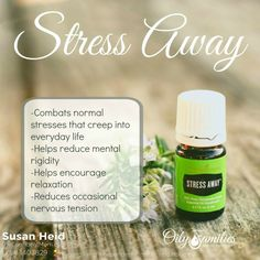 Stress Away - Encourage relaxation and combat normal stresses in everyday life - part of the Premium Starter Kit with Young Living! | TheConfidentMom.com #oilyfamilies
