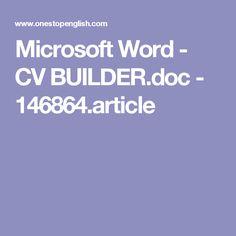 Microsoft Word - CV BUILDER.doc - 146864.article