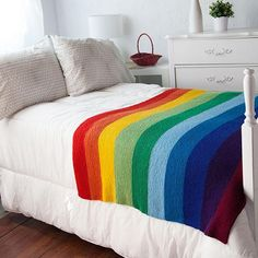 The Mighty Rainbow Blanket - Knitting Patterns and Crochet Patterns from KnitPicks.com