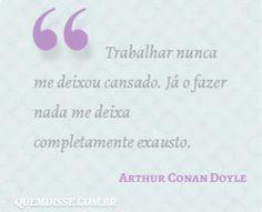 Frase de Arthur Conan Doyle