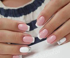 16 Pretty Nail Art Trend for French Nails, Nail Deco, Nailed It, Wedding Nails Design, Crazy Nails, Pretty Nail Art, Bridal Nails, Creative Nails, Nails Polish
