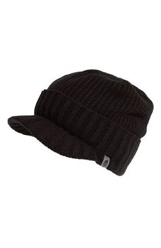 Free shipping and returns on The North Face 'GTO' Rib Knit Visor Beanie (Men) at Nordstrom.com. A faux fold topping a billed visor styles a rib-knit beanie with a small logo tab on the side.