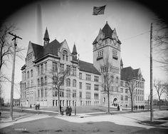 Wayne State University (Central High School Originally), Detroit, Michigan. Built 1895. 1900 Population: 285,704