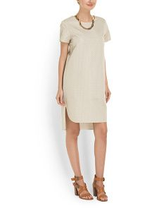 image of Textured Shift Dress