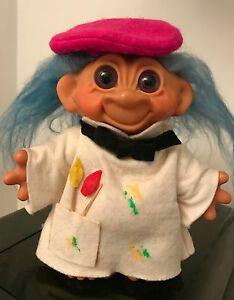 """Vintage 1986 Dam Snowman Red Hair 5/"""" Troll Doll"""