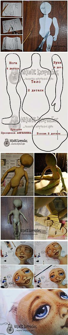 Discover thousands of images about Clase magistral: ático princesa Angelinka - Masters Feria - hecho a mano, hecho a mano Doll Crafts, Diy Doll, Doll Clothes Patterns, Doll Patterns, Fabric Dolls, Paper Dolls, Diy Couture, Sewing Dolls, Doll Tutorial