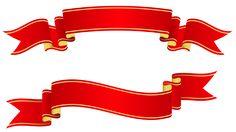 Красные знамена PNG изображения Clipart