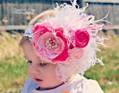 Girls Headband Baby Headband Couture  Satin and by spoiledNsweet,