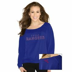 Touch by Alyssa Milano Texas Rangers Ladies Draft Choice Long Sleeve T-Shirt - Royal Blue