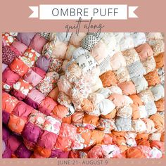 """2084 gilla-markeringar, 215 kommentarer - Lo & Behold Stitchery (@loandbeholdstitchery) på Instagram: """"Our next quilt along is.....OMBRÉ PUFF! 🥳 I've been so excited to make this quilt again, so I hope…"""" Art Gallery Fabrics, Pink Fabric, Green Fabric, Puff Quilt, Quilting Tutorials, Needle And Thread, Free Pattern, Sewing Projects, Quilts"""