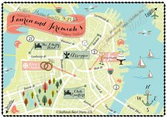 Custom Wedding MAP Any Location Available- Boston, MA wedding map pictured by FeatheredHeartPrints