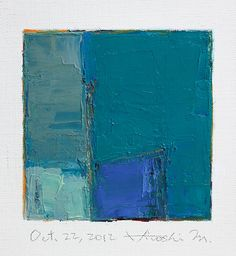 Oct. 22, 2012 - Original Abstract Oil Painting - 9x9 painting (9 x 9 cm - app. 4 x 4 inch) with 8 x 10 inch mat. $60.00, via Etsy.